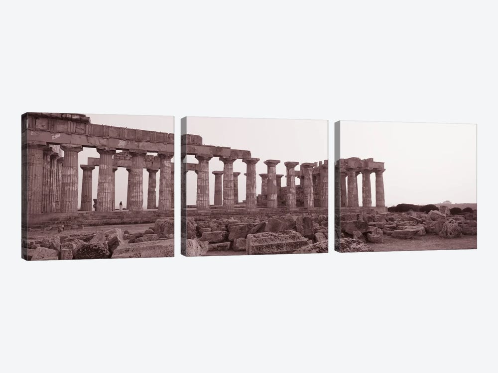 Acropolis Selinunte Archeological Park Italy by Panoramic Images 3-piece Canvas Art