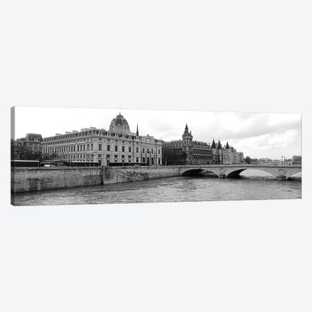 Pont Au Change Over Seine River, Palais De Justice, La Conciergerie, Paris, Île-de-France, France Canvas Print #PIM15203} by Panoramic Images Canvas Artwork