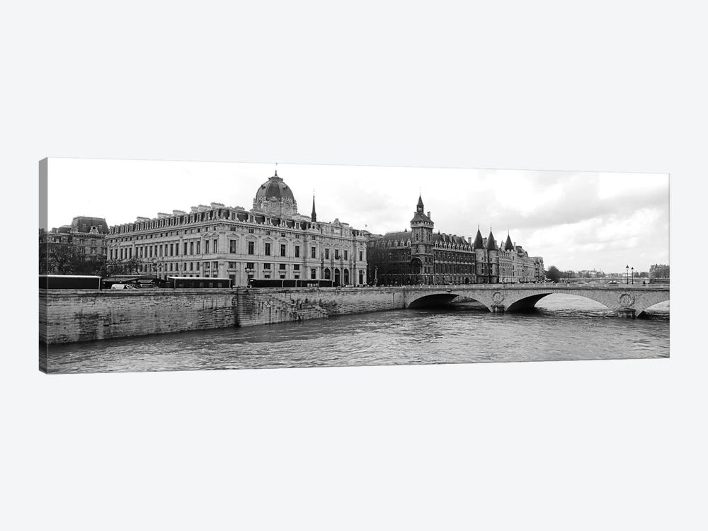 Pont Au Change Over Seine River, Palais De Justice, La Conciergerie, Paris, Île-de-France, France by Panoramic Images 1-piece Canvas Art