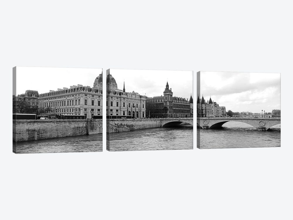 Pont Au Change Over Seine River, Palais De Justice, La Conciergerie, Paris, Île-de-France, France by Panoramic Images 3-piece Canvas Artwork