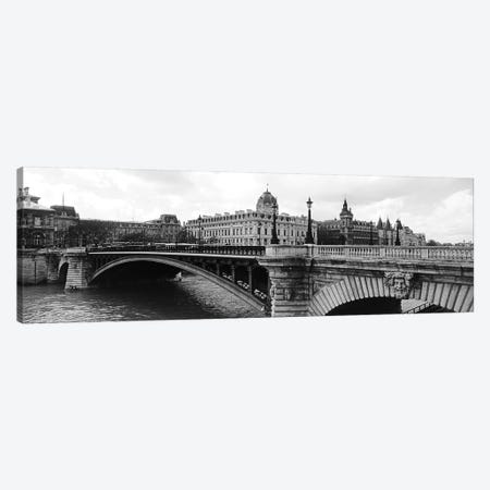 Pont Notre-Dame Over Seine River, Palais De Justice, La Conciergerie, Paris, Île-de-France, France Canvas Print #PIM15204} by Panoramic Images Canvas Art Print