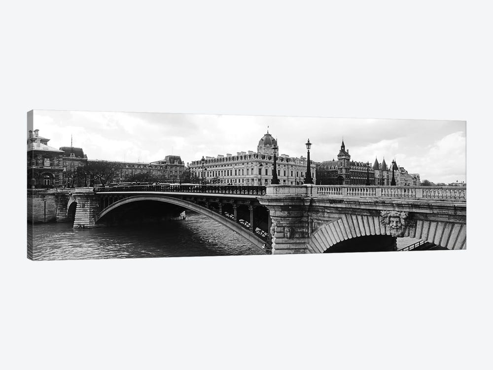Pont Notre-Dame Over Seine River, Palais De Justice, La Conciergerie, Paris, Île-de-France, France by Panoramic Images 1-piece Canvas Art Print