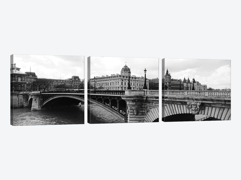 Pont Notre-Dame Over Seine River, Palais De Justice, La Conciergerie, Paris, Île-de-France, France by Panoramic Images 3-piece Art Print