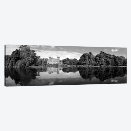 Reflection Of A Castle In Water, Johnstown Castle, County Wexford, Republic Of Ireland 3-Piece Canvas #PIM15206} by Panoramic Images Canvas Print