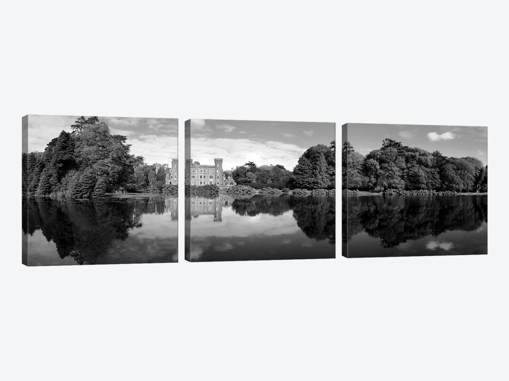 Reflection Of A Castle In Water, Johnstown Castle, County Wexford, Republic Of Ireland by Panoramic Images 3-piece Art Print