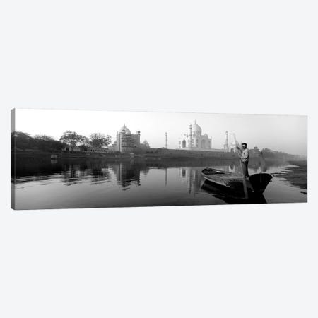 Reflection Of A Mausoleum In A River, Taj Mahal, Yamuna River, Agra, Uttar Pradesh, India Canvas Print #PIM15207} by Panoramic Images Canvas Art Print