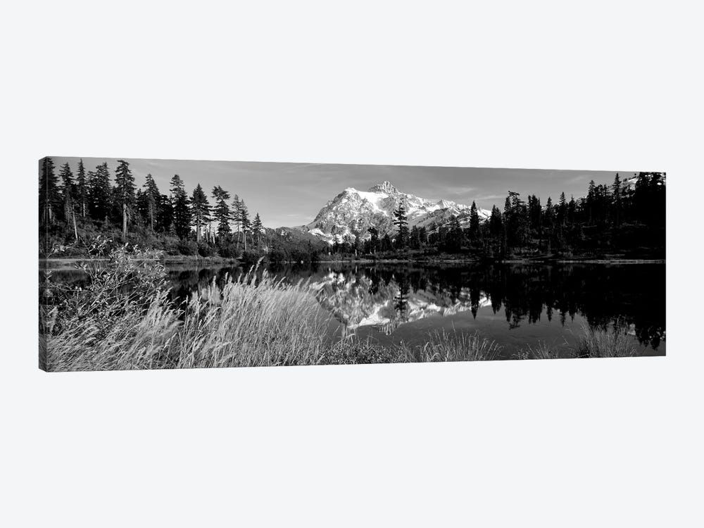 Reflection Of Mountains In A Lake, Mt. Shuksan, Picture Lake, North Cascades National Park, Washington State, USA by Panoramic Images 1-piece Canvas Art Print