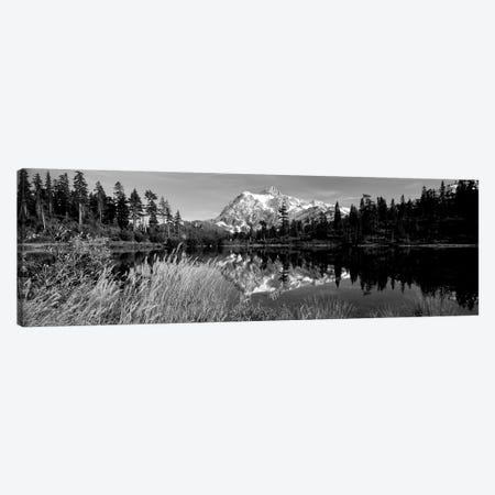 Reflection Of Mountains In A Lake, Mt. Shuksan, Picture Lake, North Cascades National Park, Washington State, USA Canvas Print #PIM15208} by Panoramic Images Canvas Wall Art