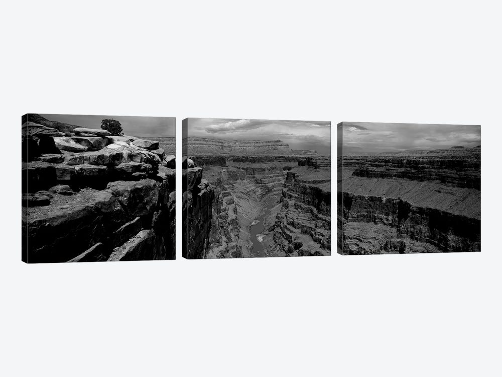 River Passing Through A Canyon, Toroweap Overlook, North Rim, Grand Canyon National Park, Arizona, USA II by Panoramic Images 3-piece Canvas Artwork