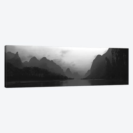 River Passing Through A Hill Range, Guilin Hills, Li River, Yangshuo, China 3-Piece Canvas #PIM15211} by Panoramic Images Art Print