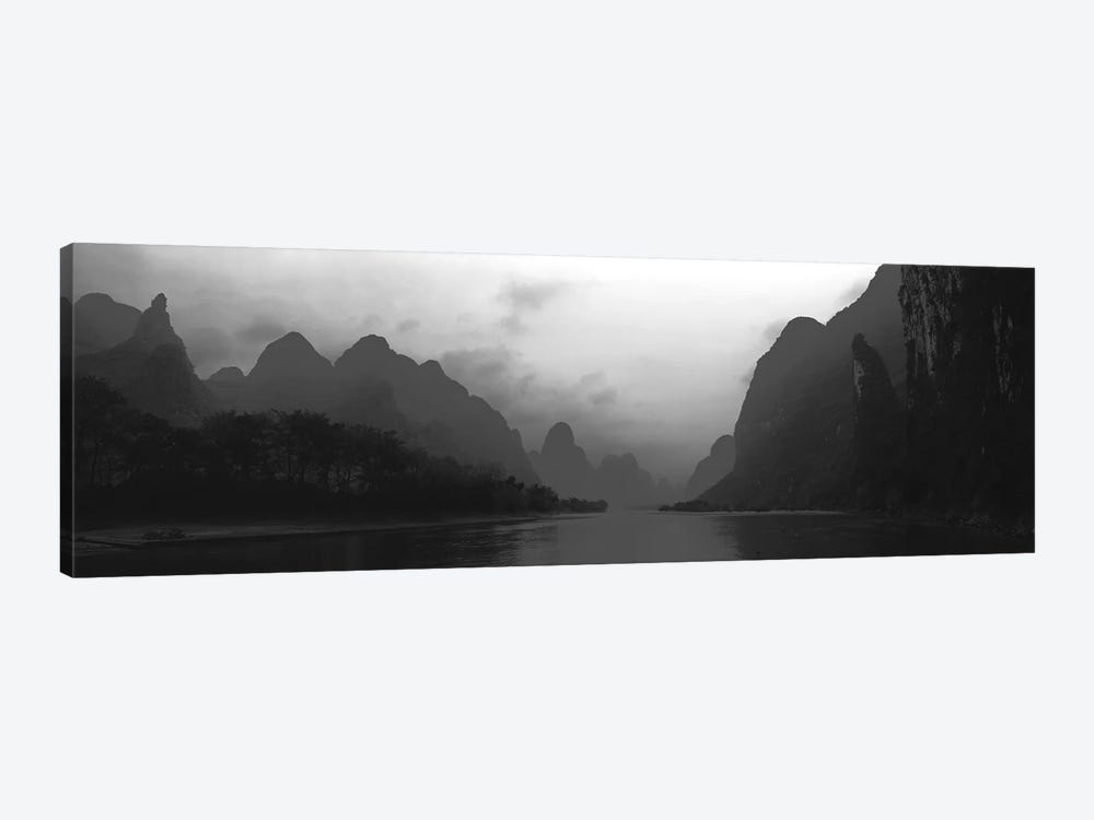 River Passing Through A Hill Range, Guilin Hills, Li River, Yangshuo, China by Panoramic Images 1-piece Canvas Art Print
