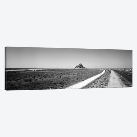 Road Passing Through A Landscape, Mont Saint-Michel, Normandy, France Canvas Print #PIM15212} by Panoramic Images Canvas Print