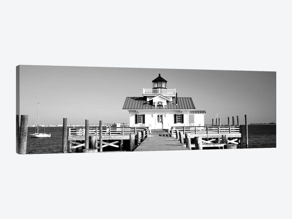 Roanoke Marshes Lighthouse, Outer Banks, North Carolina, USA by Panoramic Images 1-piece Canvas Print