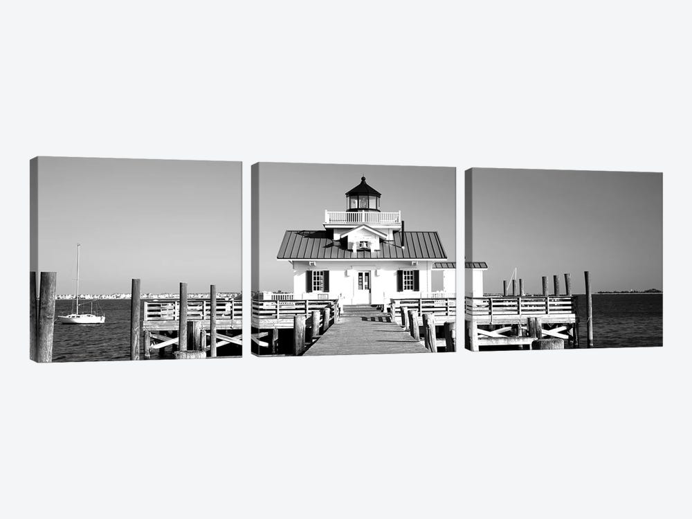 Roanoke Marshes Lighthouse, Outer Banks, North Carolina, USA by Panoramic Images 3-piece Canvas Print