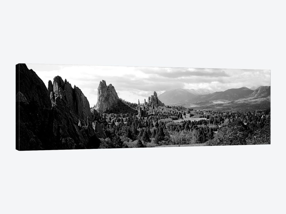 Rock Formations On A Landscape, Garden Of The Gods, Colorado Springs, Colorado, USA by Panoramic Images 1-piece Art Print