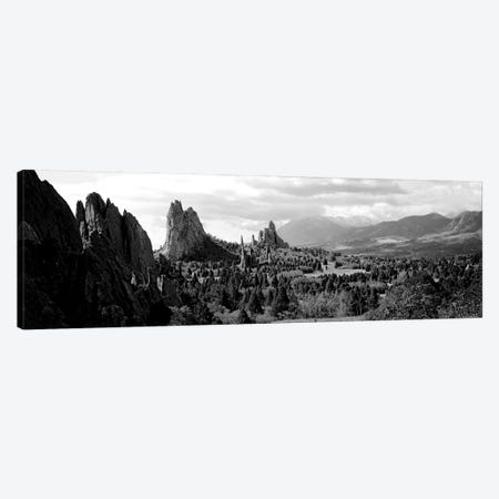 Rock Formations On A Landscape, Garden Of The Gods, Colorado Springs, Colorado, USA Canvas Print #PIM15215} by Panoramic Images Canvas Art