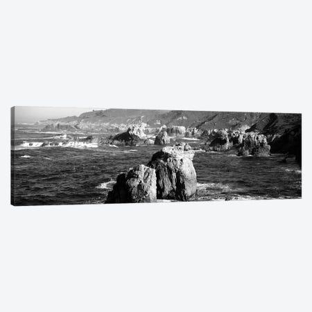Rock Formations On The Beach, Big Sur, Garrapata State Beach, Monterey Coast, California, USA Canvas Print #PIM15217} by Panoramic Images Canvas Art
