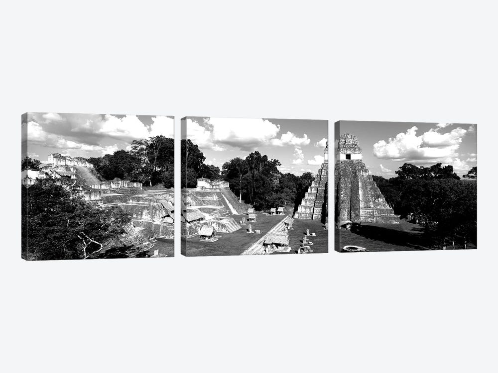 Ruins Of An Old Temple, Tikal, Guatemala by Panoramic Images 3-piece Canvas Art