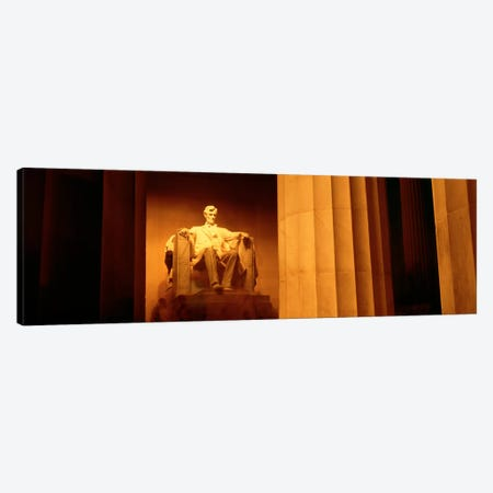 Night, Lincoln Memorial, Washington DC, District Of Columbia, USA Canvas Print #PIM1521} by Panoramic Images Canvas Artwork