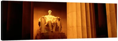 Night, Lincoln Memorial, Washington DC, District Of Columbia, USA Canvas Art Print