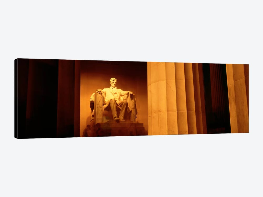 Night, Lincoln Memorial, Washington DC, District Of Columbia, USA 1-piece Art Print