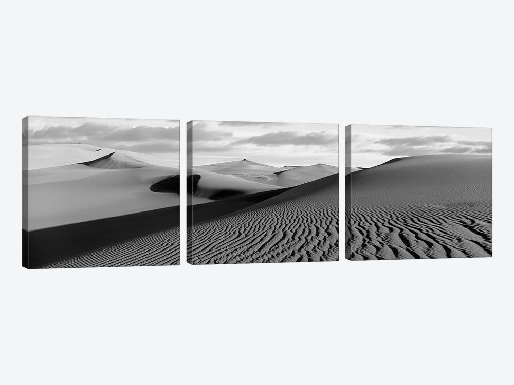 Sand Dunes In A Desert, Great Sand Dunes National Park, Colorado, USA by Panoramic Images 3-piece Canvas Wall Art