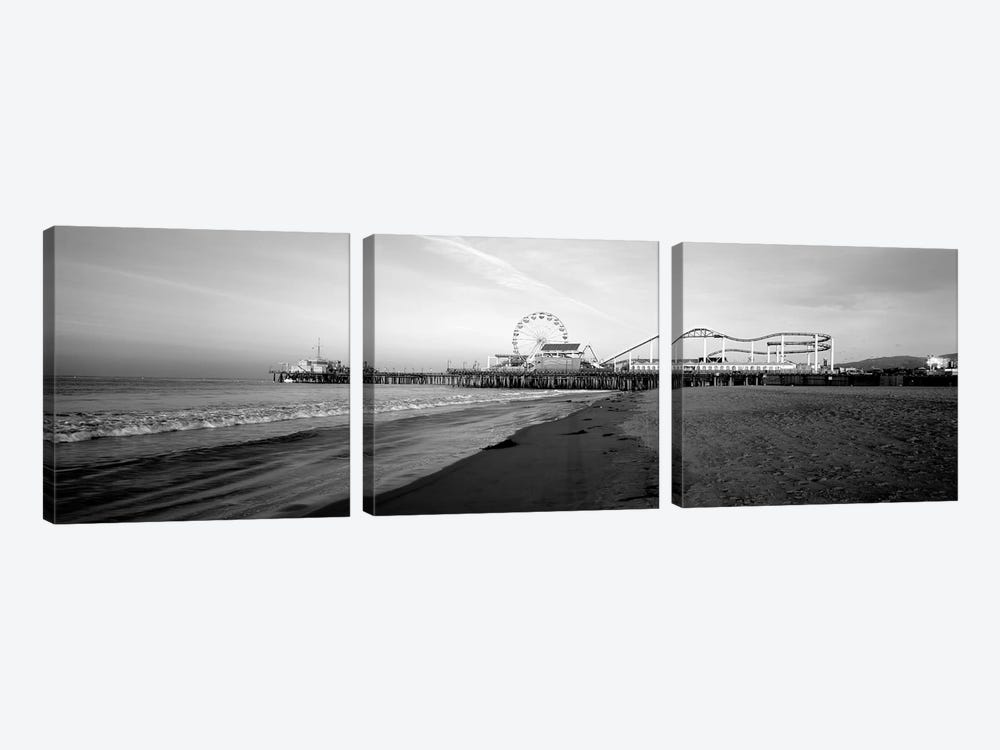 Santa Monica Pier, California, USA 3-piece Art Print