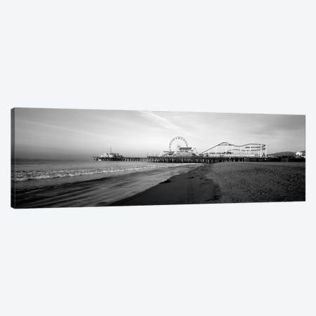 Santa Monica Pier, California, USA Canvas Print #PIM15222} by Panoramic Images Canvas Wall Art