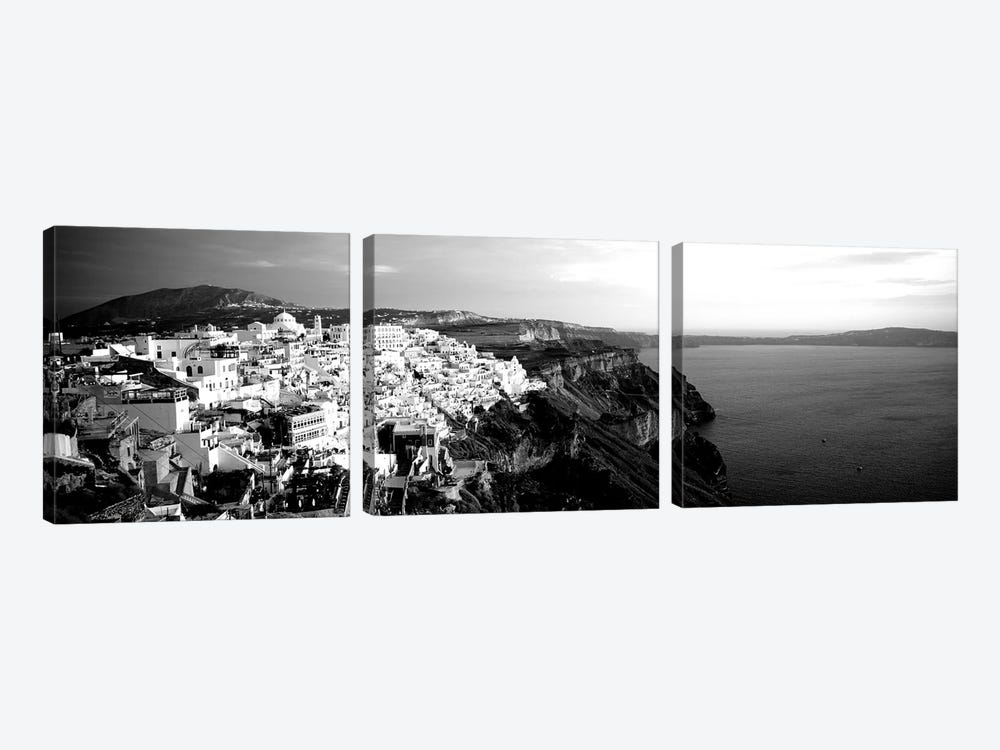 Santorini, Greece by Panoramic Images 3-piece Canvas Wall Art