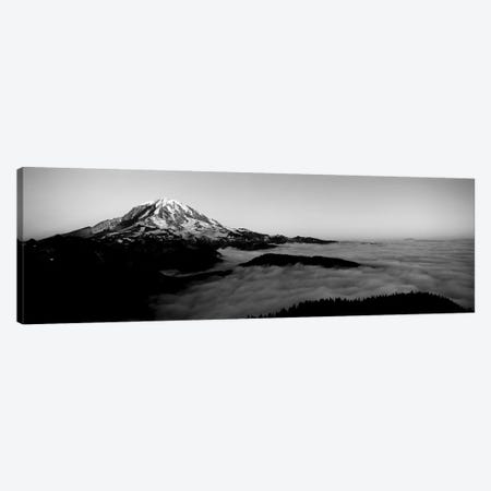 Sea Of Clouds With Mountains In The Background, Mt. Rainier, Pierce County, Washington State, USA Canvas Print #PIM15225} by Panoramic Images Art Print