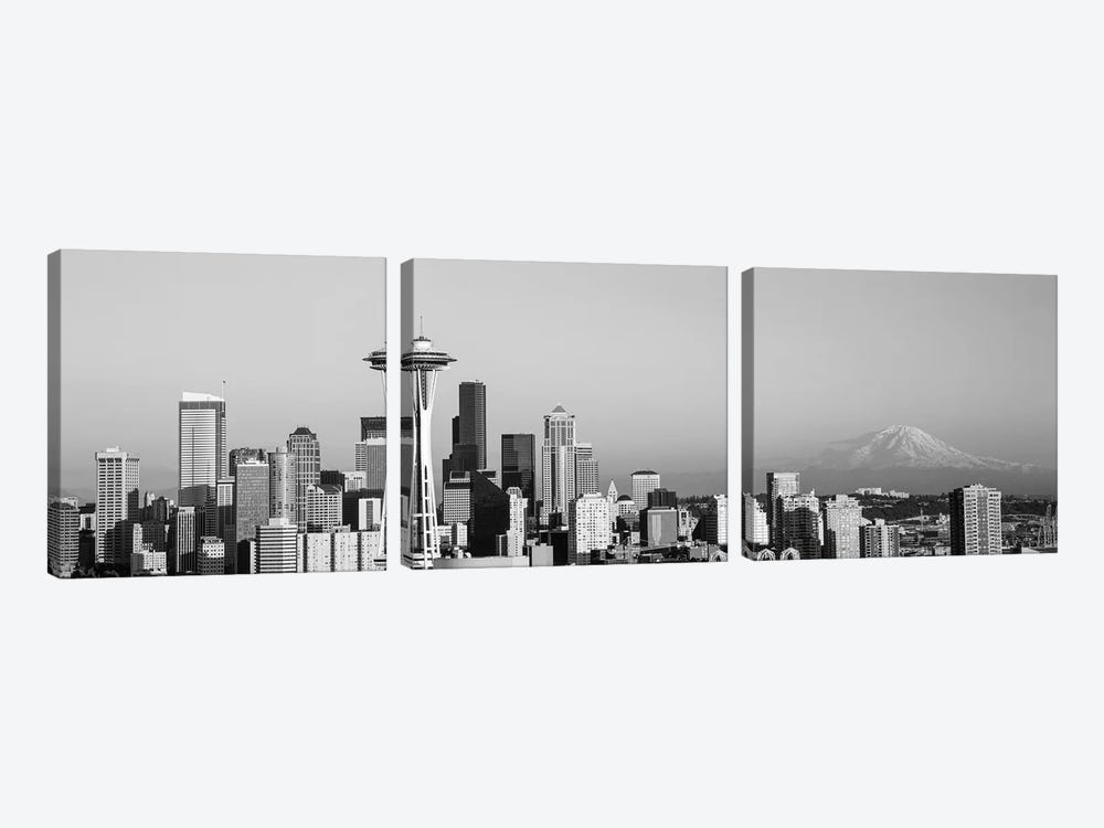 Skyline, Seattle, Washington State, USA 3-piece Canvas Print