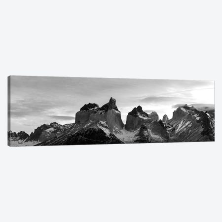 Snowcapped Mountain Range, Paine Massif, Torres Del Paine National Park, Magallanes Region, Patagonia, Chile Canvas Print #PIM15232} by Panoramic Images Art Print
