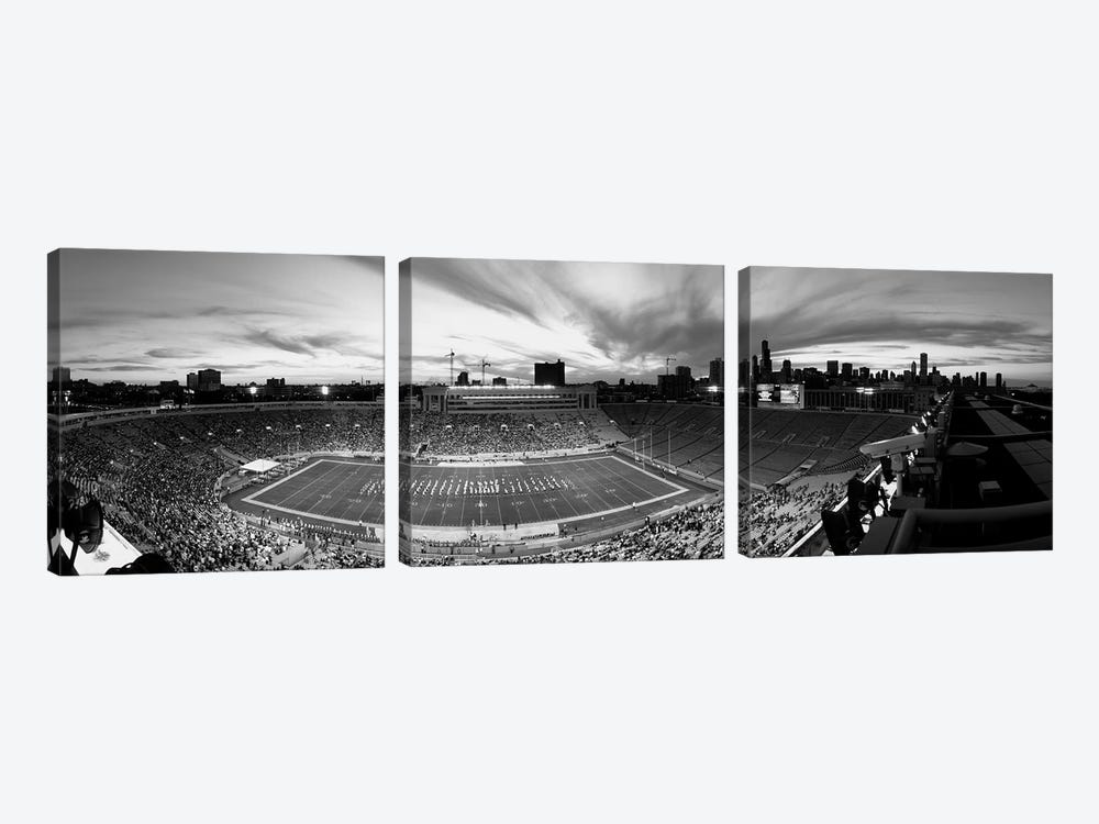 Soldier Field Football Stadium, Chicago, Illinois, USA by Panoramic Images 3-piece Canvas Wall Art