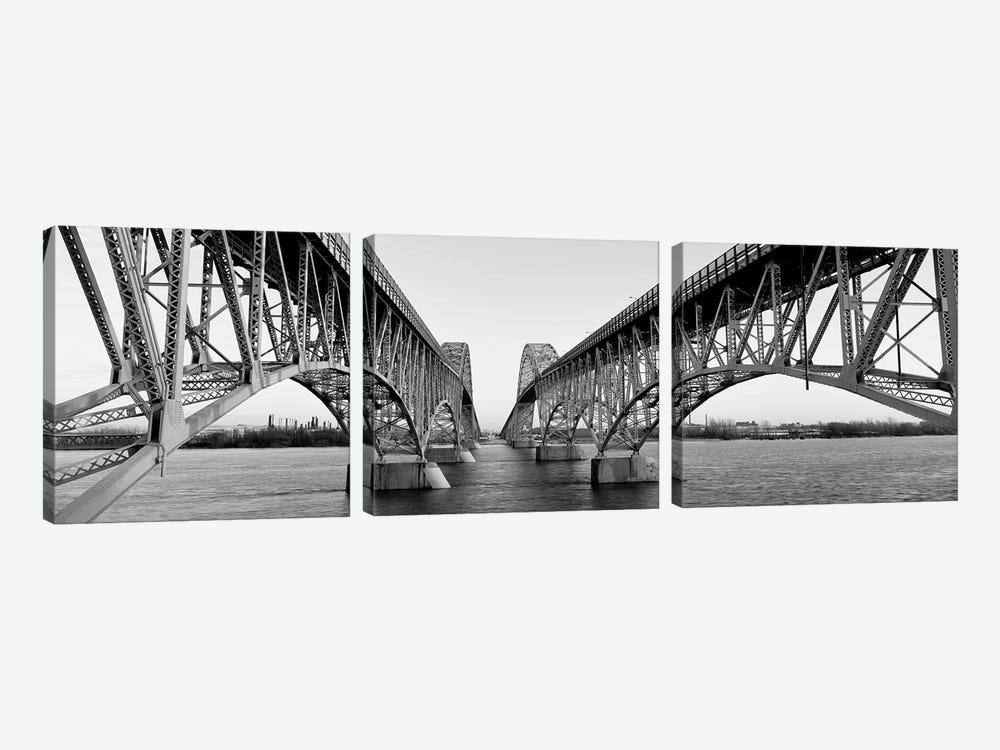 South Grand Island Bridges, New York State, USA by Panoramic Images 3-piece Canvas Artwork