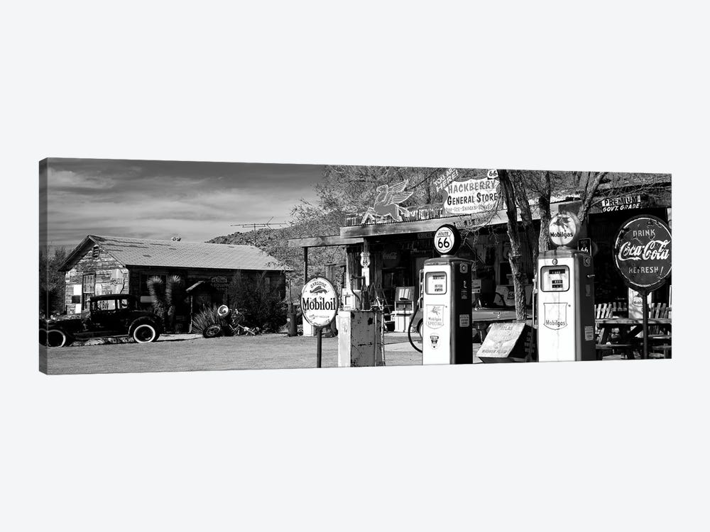 Store With A Gas Station On The Roadside, Route 66, Hackenberry, Arizona, USA by Panoramic Images 1-piece Art Print