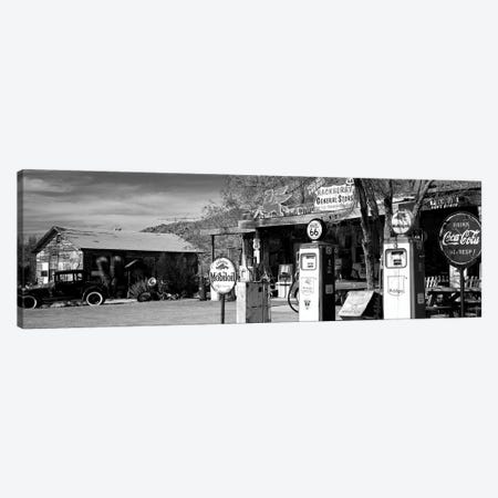 Store With A Gas Station On The Roadside, Route 66, Hackenberry, Arizona, USA Canvas Print #PIM15239} by Panoramic Images Canvas Art Print