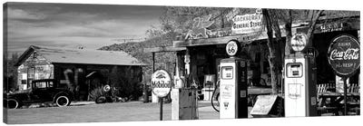 Store With A Gas Station On The Roadside, Route 66, Hackenberry, Arizona, USA Canvas Art Print