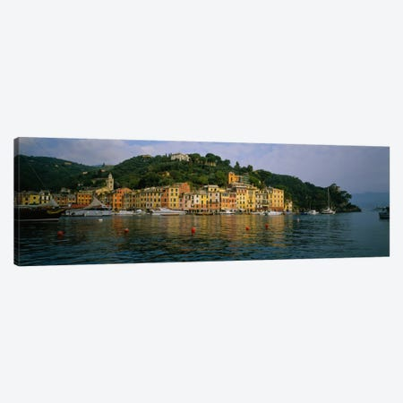 Shoreline Architecture, Portofino, Liguria, Italy Canvas Print #PIM1523} by Panoramic Images Canvas Artwork