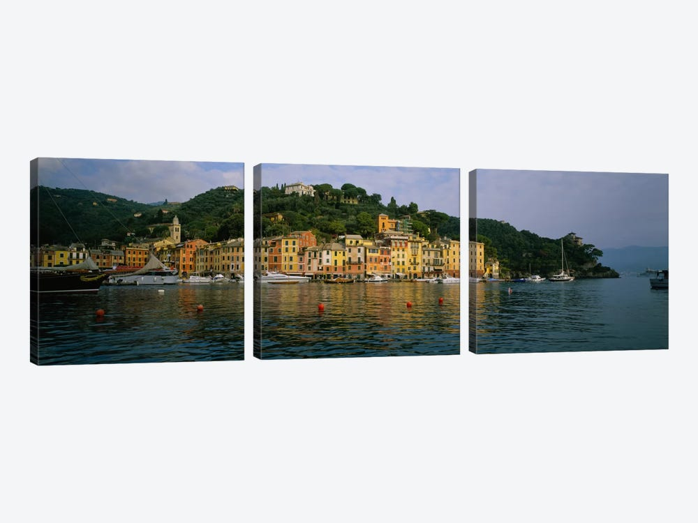 Shoreline Architecture, Portofino, Liguria, Italy by Panoramic Images 3-piece Art Print