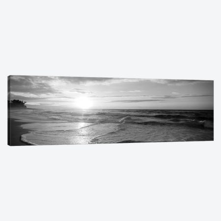 Sunset Over The Sea Canvas Print #PIM15242} by Panoramic Images Canvas Wall Art