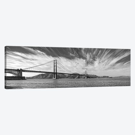 Suspension Bridge Over Pacific Ocean, Golden Gate Bridge, San Francisco Bay, San Francisco, California, USA Canvas Print #PIM15249} by Panoramic Images Canvas Artwork