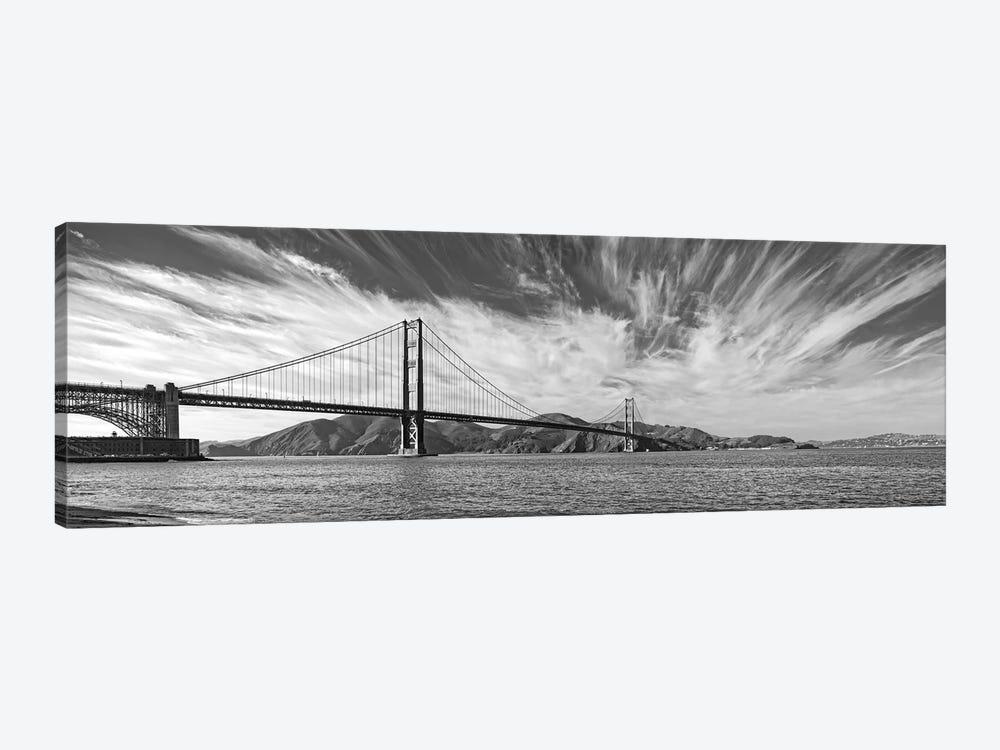 Suspension Bridge Over Pacific Ocean, Golden Gate Bridge, San Francisco Bay, San Francisco, California, USA by Panoramic Images 1-piece Canvas Artwork