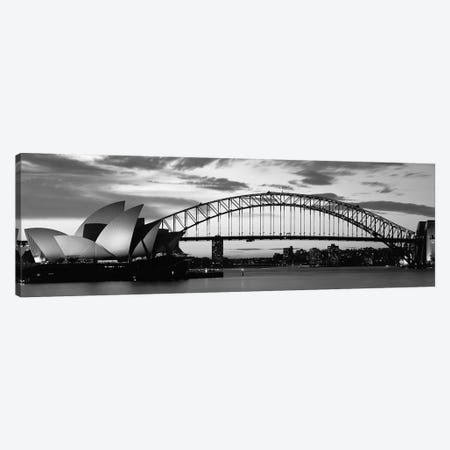 Sydney Harbour Bridge At Sunset, Sydney, Australia Canvas Print #PIM15251} by Panoramic Images Canvas Print