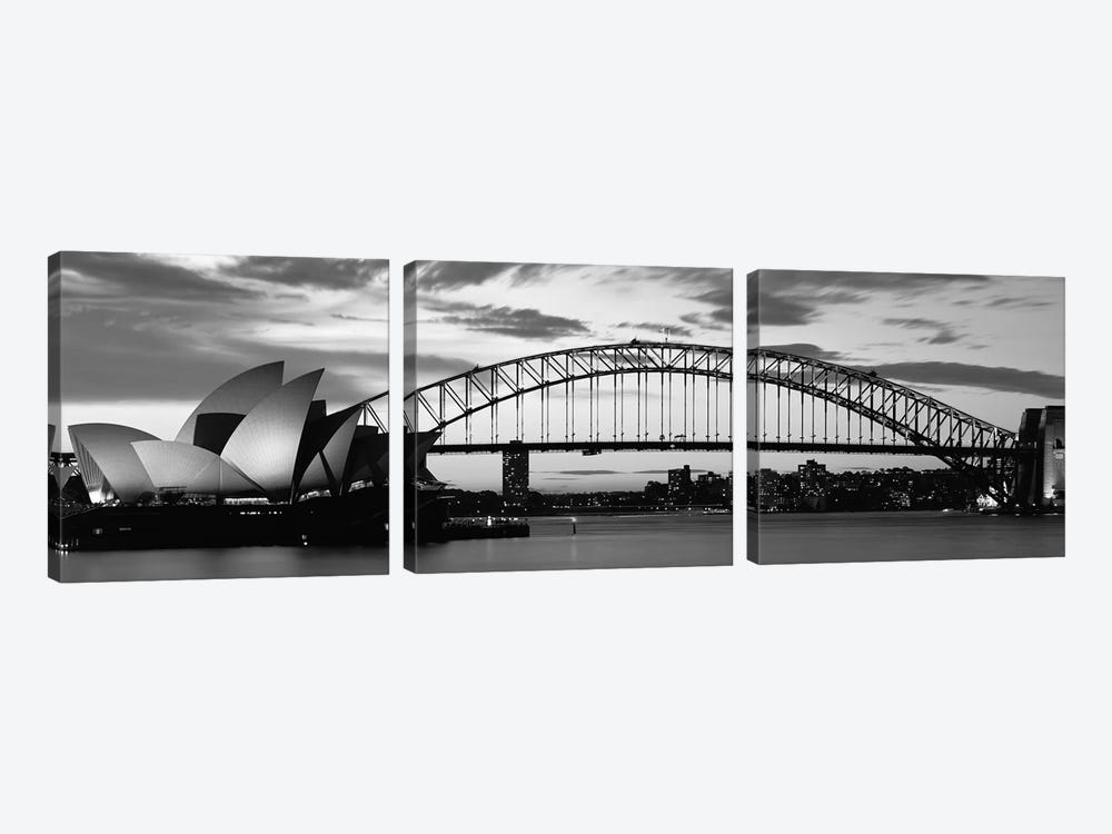 Sydney Harbour Bridge At Sunset, Sydney, Australia by Panoramic Images 3-piece Art Print