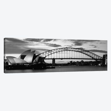Sydney Harbour Bridge At Sunset, Sydney, Australia Canvas Print #PIM15251} by Panoramic Images Canvas Print