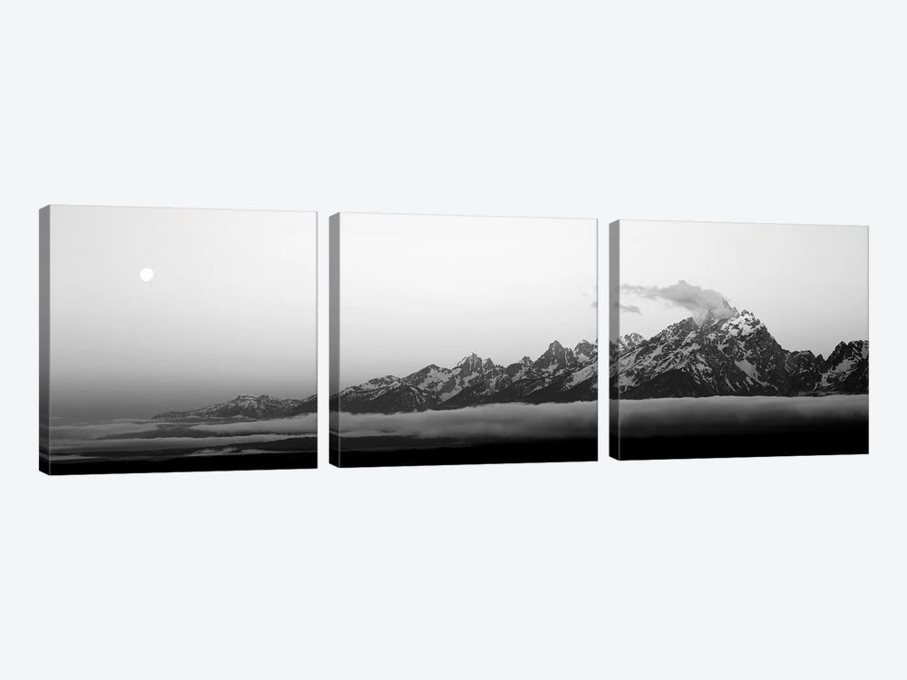 Teton Range Grand Teton National Park WY USA by Panoramic Images 3-piece Canvas Artwork