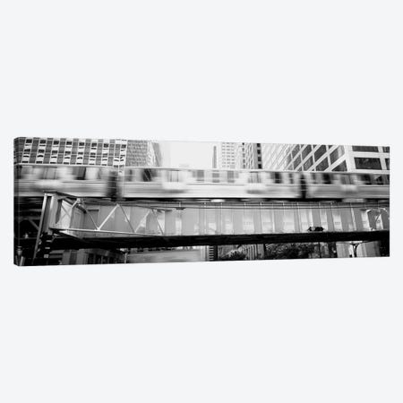 The El Elevated Train Chicago Il Canvas Print #PIM15254} by Panoramic Images Canvas Art