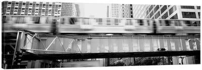 The El Elevated Train Chicago Il Canvas Art Print