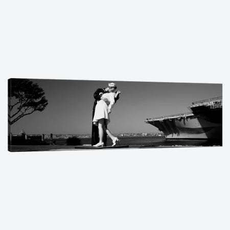 The Kiss Between A Sailor And A Nurse Sculpture, San Diego Aircraft Carrier Museum, San Diego, California, USA Canvas Print #PIM15255} by Panoramic Images Canvas Artwork