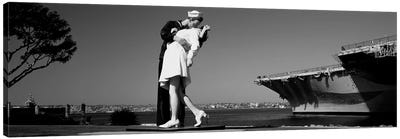 The Kiss Between A Sailor And A Nurse Sculpture, San Diego Aircraft Carrier Museum, San Diego, California, USA Canvas Art Print